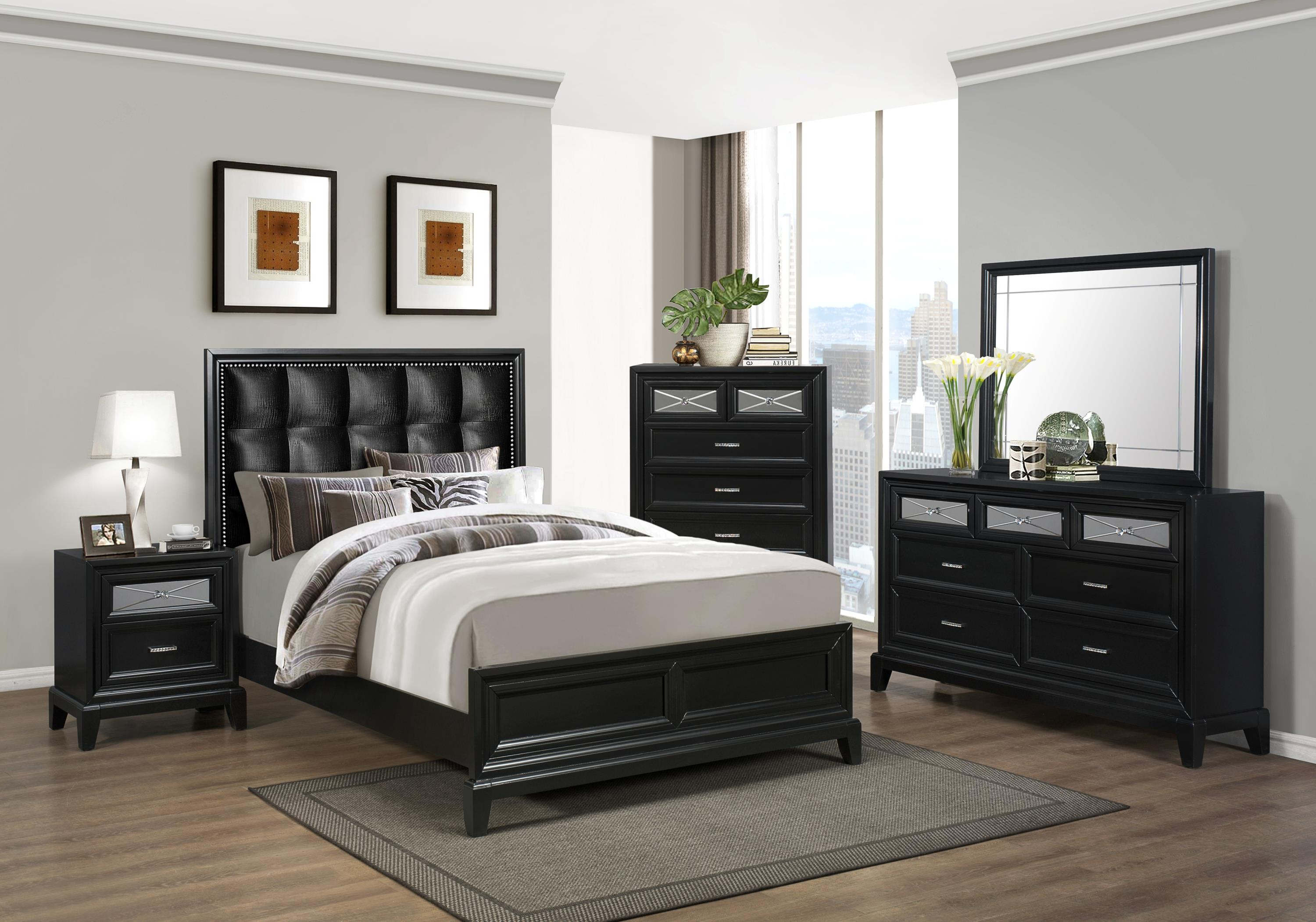Crown Mark Elise King Bedroom Group - Item Number: B9380 K Bedroom Group 1
