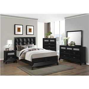 Crown Mark Elise Queen Bedroom Group
