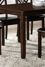 Clean Apron and Sturdy Legs on Dining Table