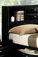 Built-in Shelving and Drawer Storage on Captain's Bed