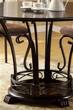 Table Features Beautiful Pedestal-Style Base with Scrollwork