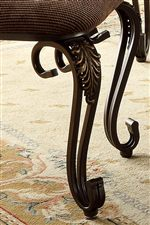 Upholstered Chairs Feature Scroll Legs with Acanthus Leaf Accents