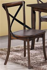Dining Side Chairs with Unique Metal X-Backrest