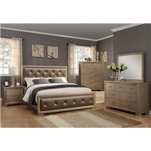 Crown Mark Fontaine California King Bedroom Group