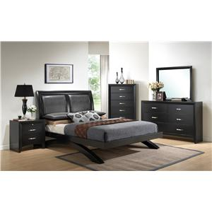 Crown Mark Galinda  6 Drawer Dresser & Mirror Combo