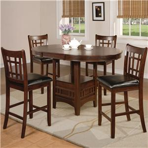 Crown Mark Hartwell Five Piece Pub Table Set