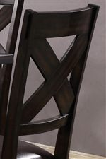 Rustically Styled X Design Chair Backs