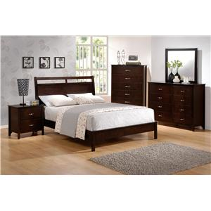 CM Ian King Low-Profile Bed with Cutout Headboard