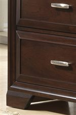 Small Bracket Feet Add a Traditional Design Element for a Formal Feel
