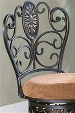 Ornately Shaped Chair Back Design