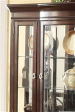 Glass Door China Cabinet Brings Beautiful Refinement with Its Presence