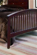 Arched & Slatted Footboard