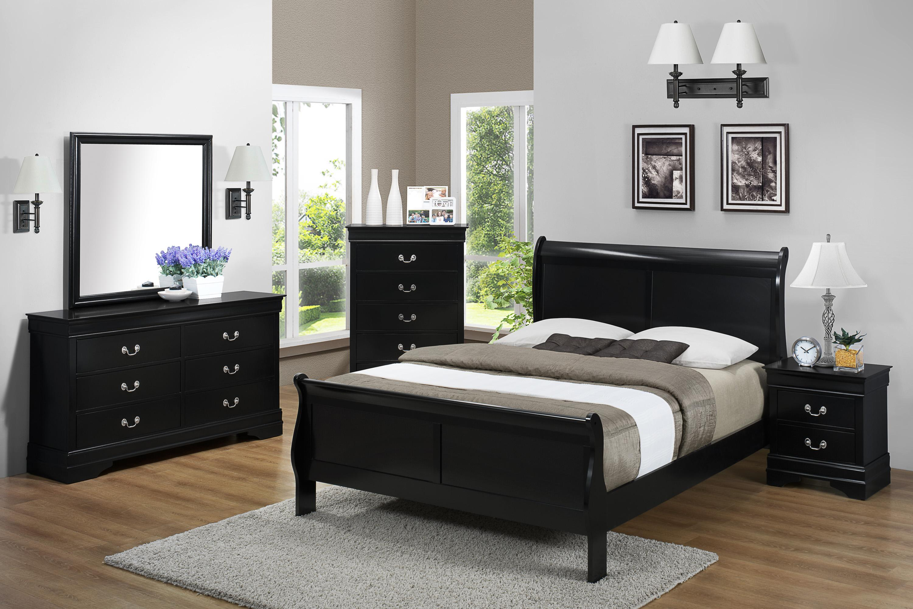 Crown Mark Louis Phillipe California King Bedroom Group - Item Number: B3900 CK Bedroom Group 1