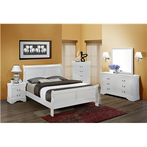 Crown Mark Louis Phillipe Queen Sleigh Bed