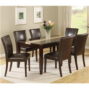 Crown Mark Madrid u0026 Ferrara 7 Piece Pub Table Set with Upholstered Counter Chairs & Crown Mark Madrid u0026 Ferrara 7 Piece Pub Table Set with Upholstered ...