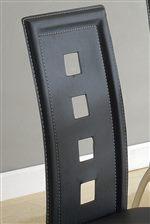 Unique Four Square Cutout Seat Back Design