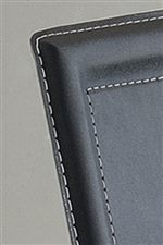 White Stitching Trim on Chair Upholstery