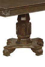 Ornately carved pedestals