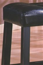 Dark Finish and Tufted Button Accents Shown on Stool