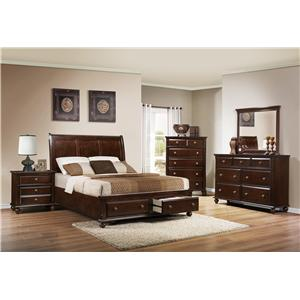 Crown Mark Portsmouth B6075 Queen Bedroom Group