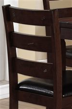 Ladderback Chairs with Slightly Distressed Marks