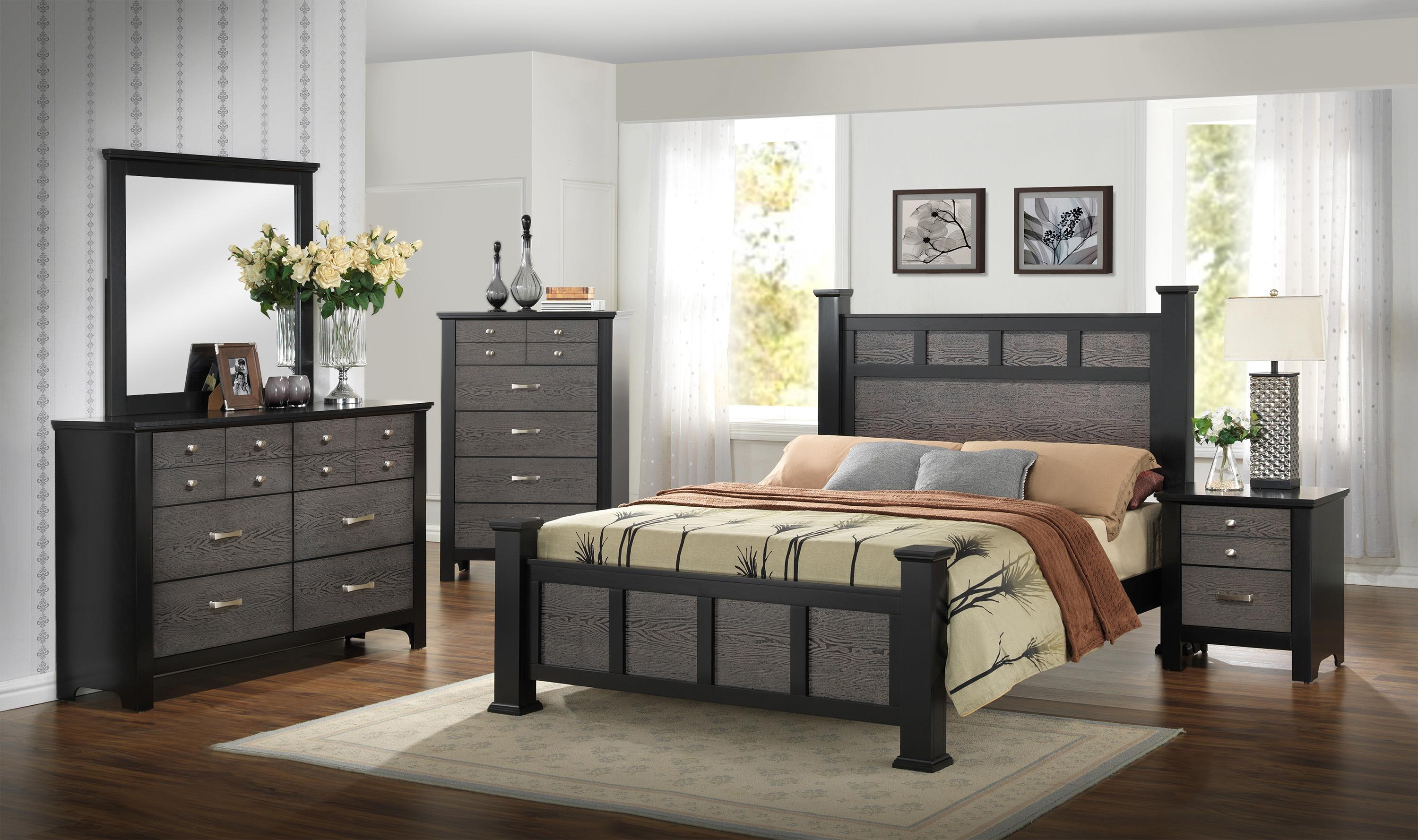 Crown Mark Reagan Transitional Paneled Queen Bed | Wayside ...