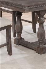 Intricate Dentil Molding on the Table Apron