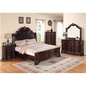 Crown Mark Sheffield Cal King Bedroom Group
