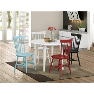 Crown Mark Shelli3 Side Chair with Spindle Back Design