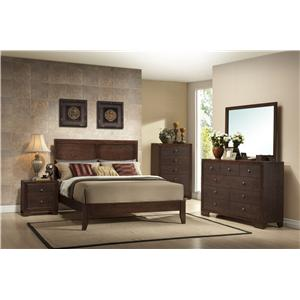 Crown Mark Silvia King Bedroom Group
