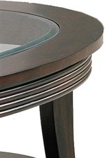 Round Table Edge with Carved-Line Molding