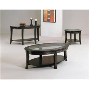 Crown Mark Simone Glass-Top Coffee Table