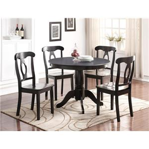 Crown Mark Sofia Transitional Table and Chair Set