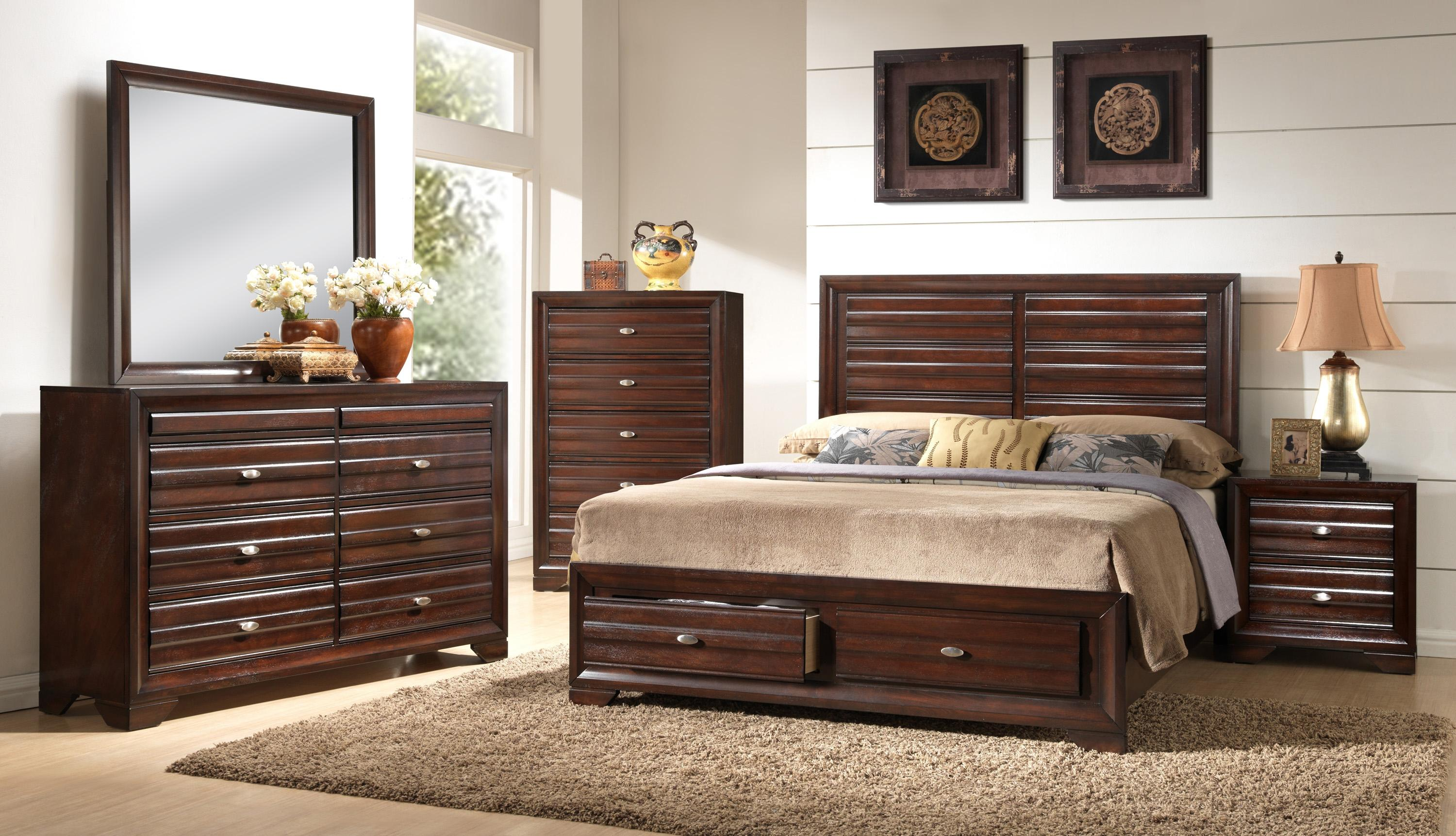 Crown Mark Stella B4500 K Bedroom Group 3 King Storage Bedroom Group
