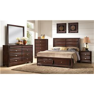 Crown Mark Stella King Storage Bedroom Group