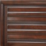 Woodwork Features a Rich Brown Finish with Warm Tones