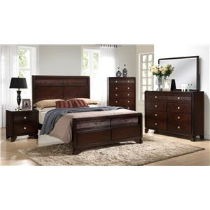 Crown Mark Tamblin Transitional Queen Headboard and Footboard Bed