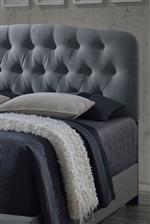 Comfortably Upholstered Tufted Headboard