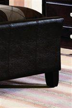 Elegant Upholstered Faux Leather