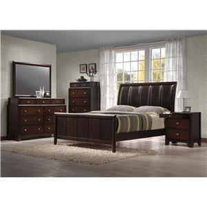 Crown Mark Essex Two-Tier Dresser and Rectangular Mirror Combination