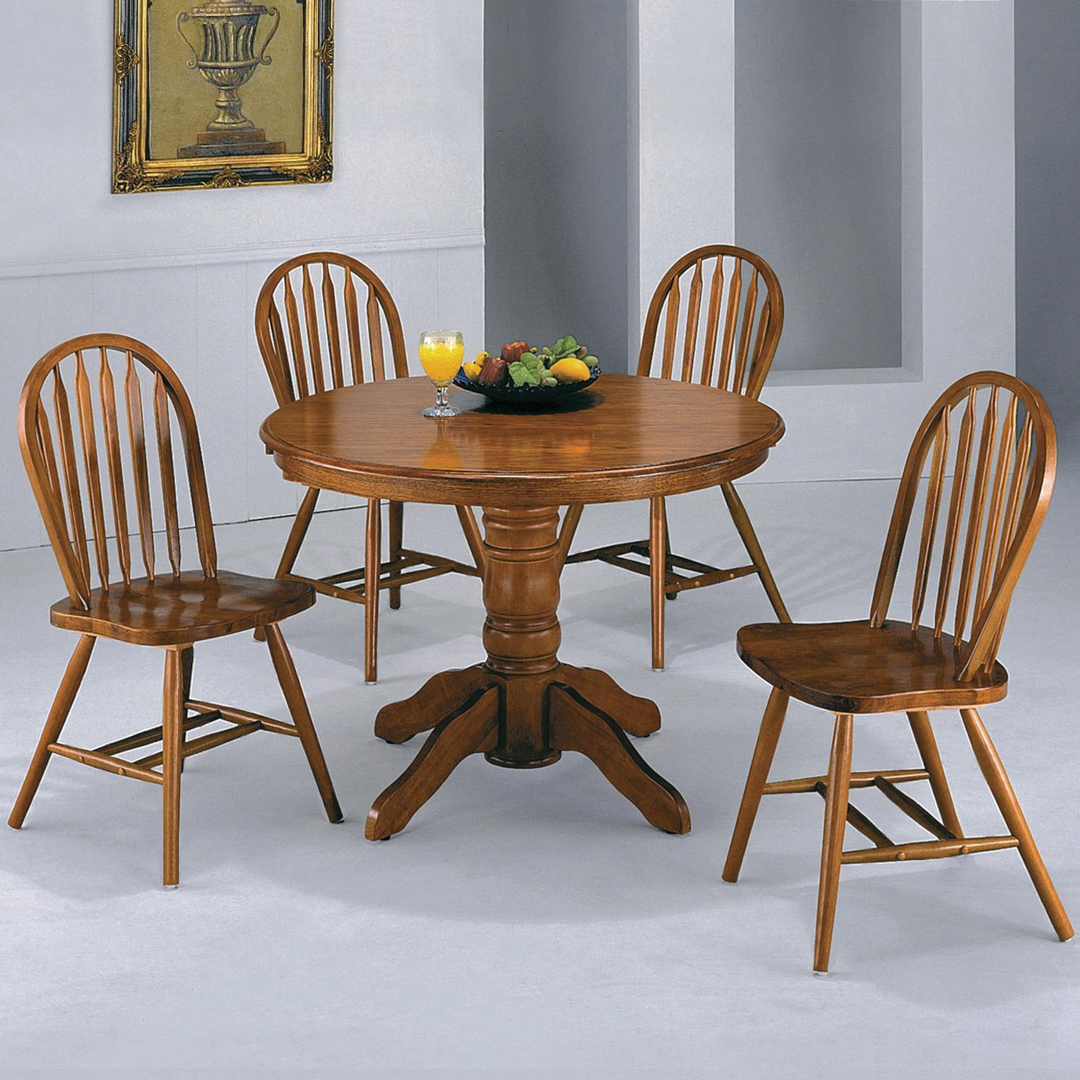 Crown Mark Windsor Solid Oval Pedestal Dining Table | Wayside ...
