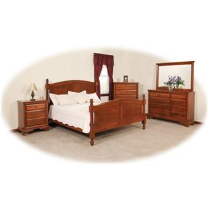Daniel's Amish Classic Full Sleigh Bed with Low Footboard