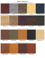 Fabrics Available for Chair Seats