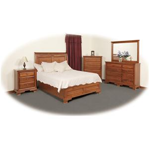 Daniel's Amish Amish Classic Queen Sleigh Bed with Low Footboard