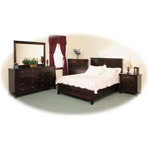 Daniel's Amish Cosmopolitan California King Pedestal Bed W/ 60