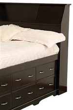 Bookcase Bed with Underbed Drawers