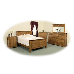 Daniel's Amish Arts and Crafts Queen Solid Wood Frame Bed with Low Profile Footboard