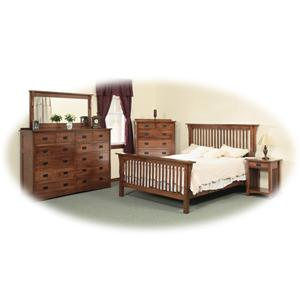 Daniel's Amish Amish Mission Twin Bedroom Group 1