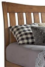 Curved and Slatted Headboard