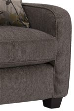 Smooth Upholstered Sides Create a Clean Look with a Contemporary Style